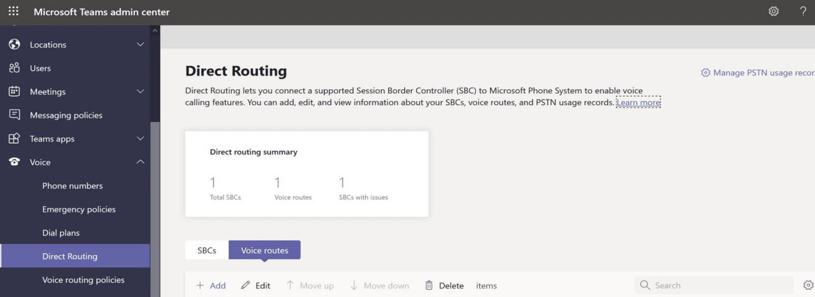 Creating Voice Routes in Microsoft Teams